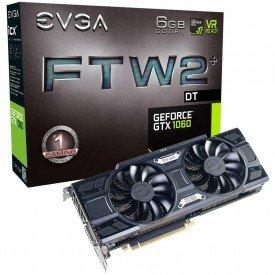 Caixa Placa de Vídeo EVGA GeForce GTX 1060 6GB FTW2 DT