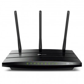 frontal roteador tp link wireless archer c7 v2 ac 1750mbps preto