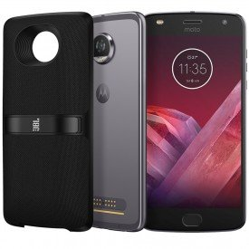 Moto Snap Motorola Moto Z2 Play 64GB New SoundBoost 2 Platinum