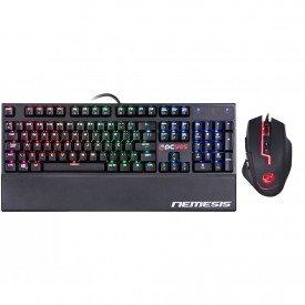 Kit Gamer PcYes Teclado Nemesis + Mouse Laser Lycan Led RGB