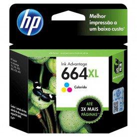 Cartucho de Tinta HP 664XL Tricolor F6V30AB