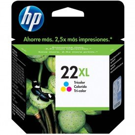 Cartucho de Tinta HP 22XL Tricolor C9352CB