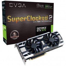 Caixa Placa de Vídeo EVGA GeForce GTX 1070 8GB SC2 Gaming