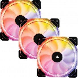Fan Cooler Corsair HD120 Led RGB com 3 Unidades CO-9050067-WW