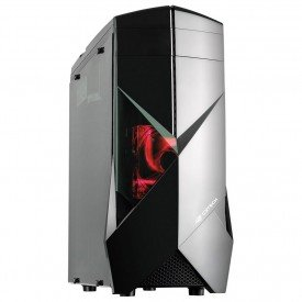frontal gabinete gamer c3tech full atx mt g300bk preto