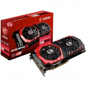Caixa Placa de Vídeo MSI Radeon RX 580 8GB Gaming X