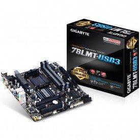 Caixa e Placa Mãe Gigabyte mATX 78LMT-USB3 (rev 6.0)
