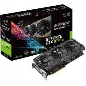 Caixa Placa de Vídeo Asus GeForce GTX 1070 Ti 8GB ROG Strix